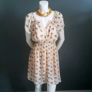 🦓HP🦓 As Seen On Glee MARCIANO Zebra Mini Dress